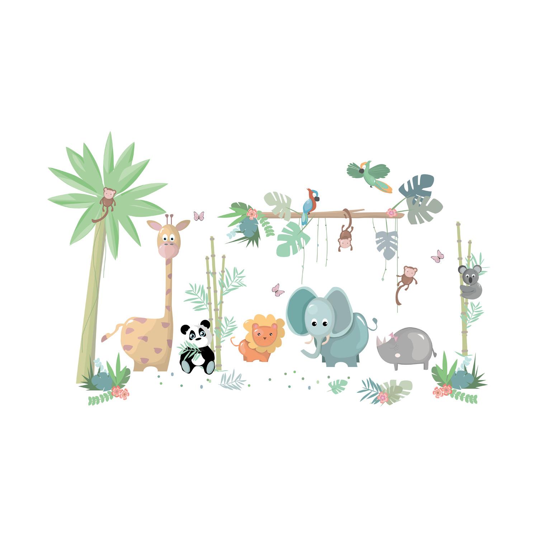 LM Baby Art Jungly Jungle Complete Set Muurstickers