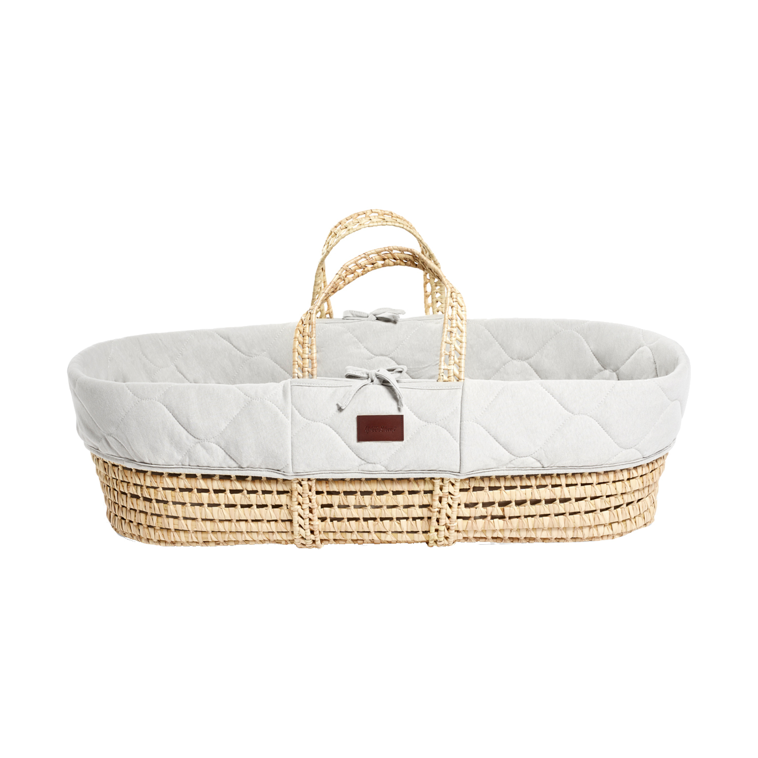 Snuz Natural Knitted Moses Wieg met Matras Dove