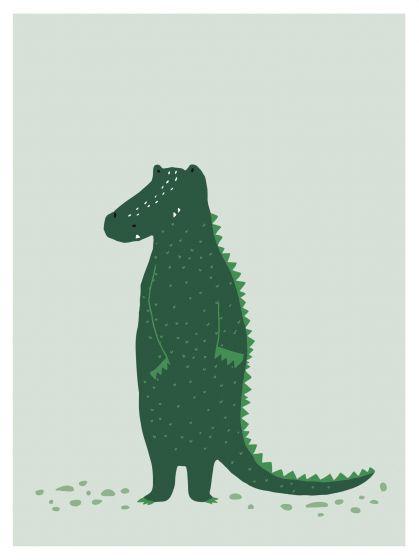 Trixie poster Mr. Crocodile 30 x 40 cm papier groen
