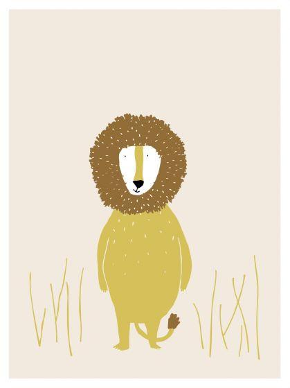 Trixie poster Mr. Lion 30 x 40 cm papier geel