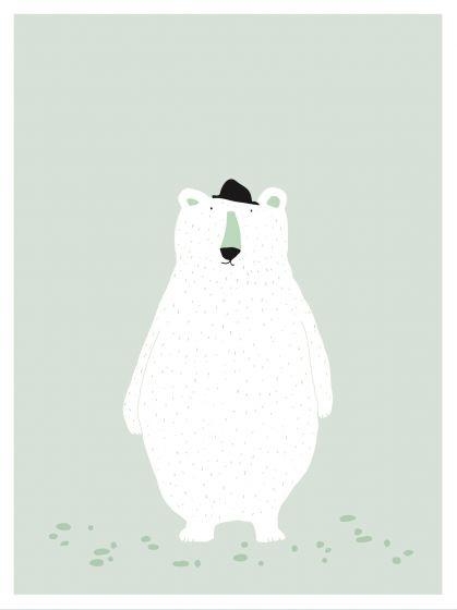 Trixie poster Mr. Polar Bear 30 x 40 cm papier groen