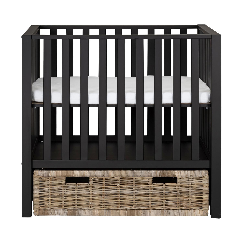 Europe Baby Mees Box Met Rieten Lade Mat Zwart