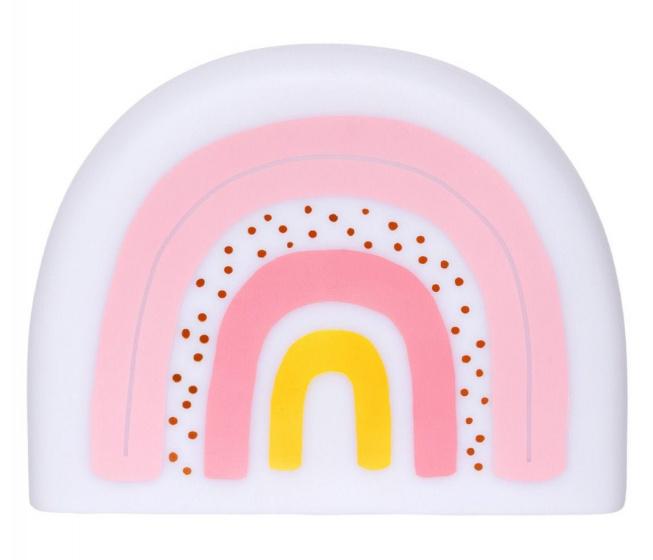 A Little Lovely Company nachtlamp Regenboog 24,5 cm PVC wit