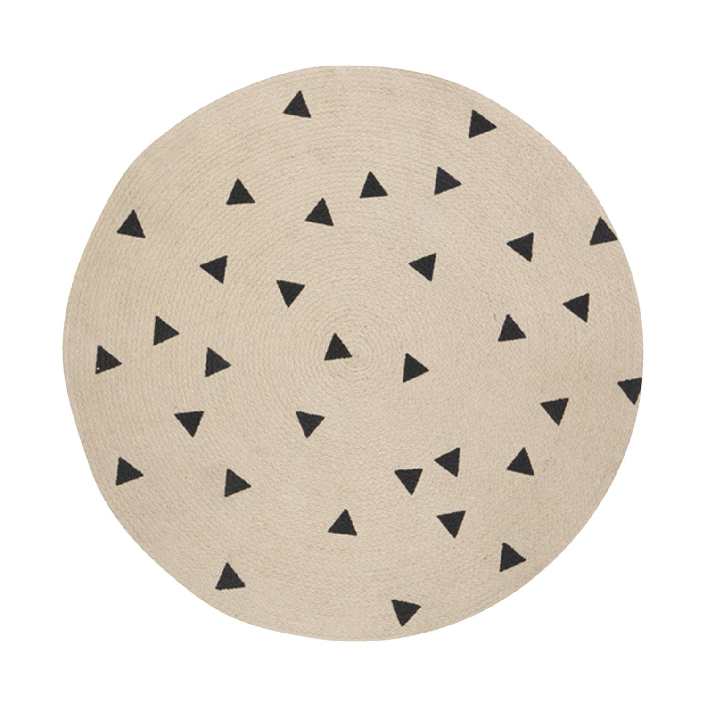Ferm Living Black Triangles Vloerkleed Jute Small
