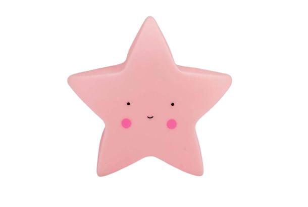 Interbaby nachtlamp ster 15,5 x 9,2 cm PVC roze
