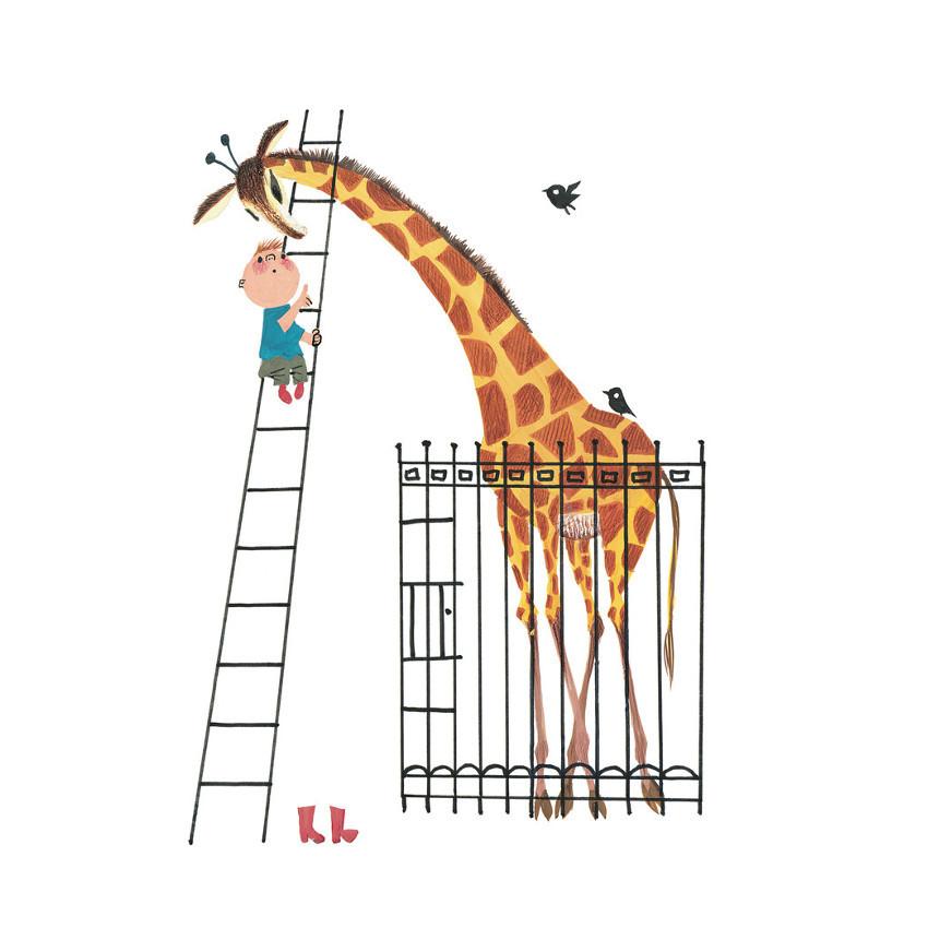 KEK AMSTERDAM Poster Giant Giraffe
