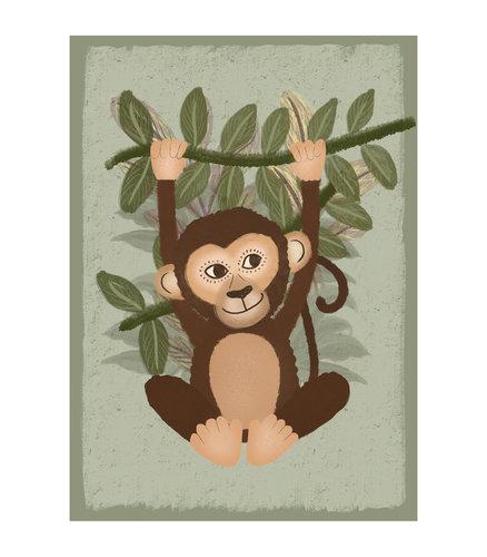 Klein & Stoer Kinderposter aap