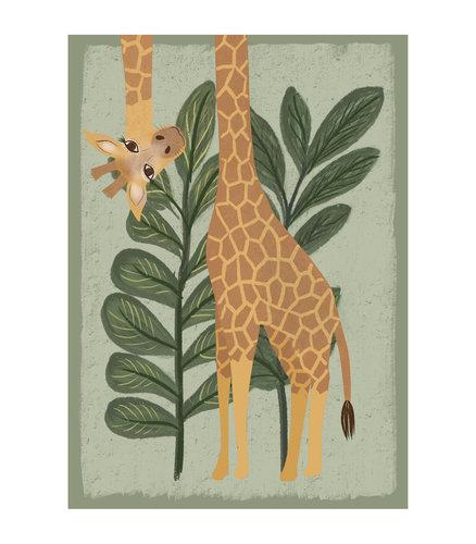 Klein & Stoer Kinderposter giraffe