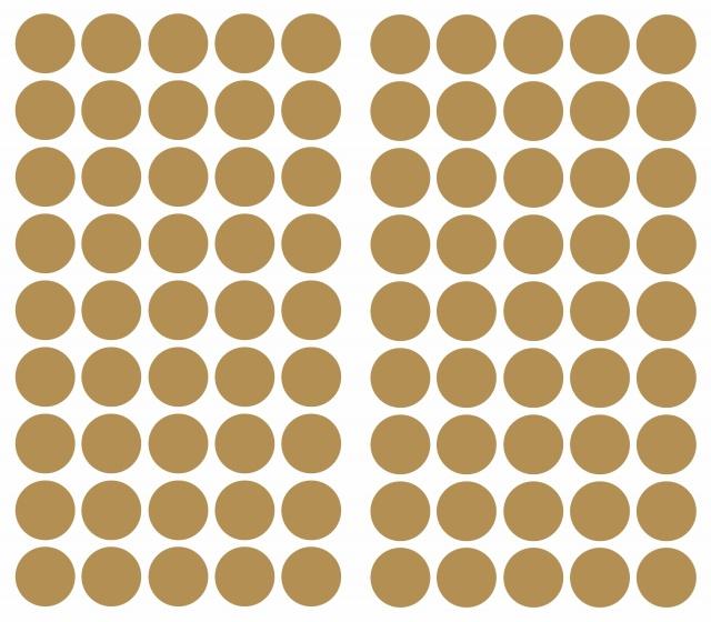 RoomMates muurstickers Gold Confetti Dots vinyl 90 stuks