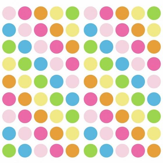RoomMates muurstickers Pastel Dots vinyl 180 stuks