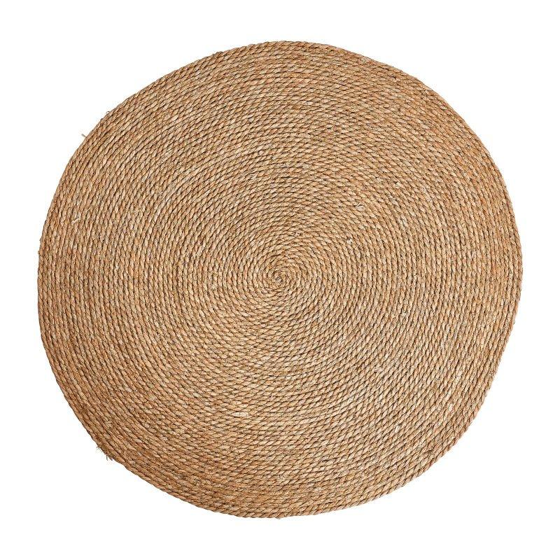 Vloerkleed riet - bruin - 87 cm
