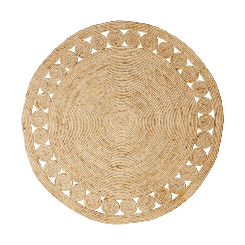 Vloerkleed riet - rond - ⌀120 cm